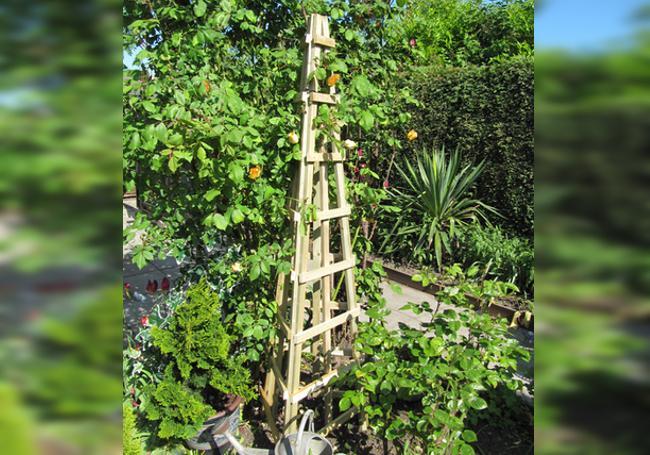 Grange Trellis Style Obelisk Wooden Garden Frame For Plants