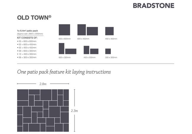 Bradstone Old Town 6.44m² Pack