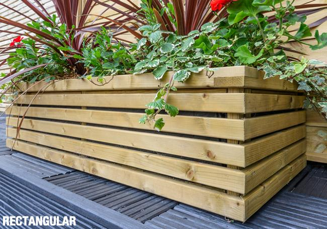Grange Tall Wooden Comtemporary Garden Planter