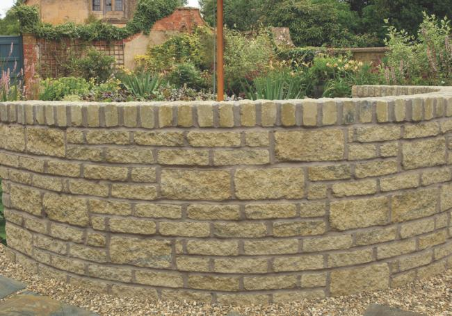 Bekstone Buff Black Walling