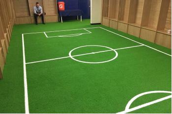 Artificial Grass is a Winner for Oxford United's Changing Rooms