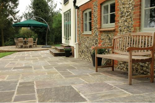 Natural sandstone paving from AWBS