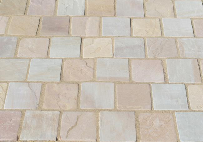 AWBS Coastal Mix Sandstone Sett 9.98m² Paving Pack