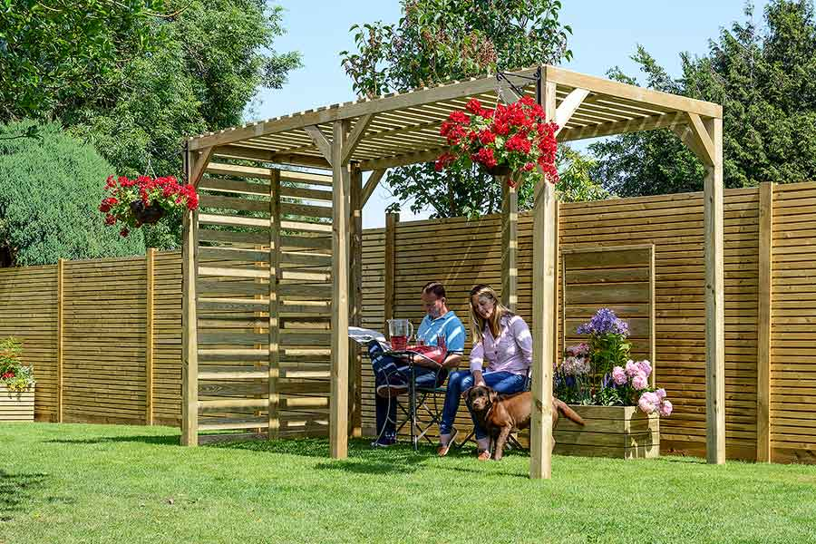 Dark Timbers Are Very Much On Trend, So You Could Paint Your Pergola Black  Or Another Strong Deep Colour. A Stained Black Minimalistic Pergola Can  Also ...